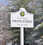Sign Welcome to Princeton Stock Images