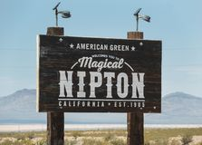 Welcome to Nipton, California royalty free stock image