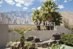 Palm Springs Sign. Sign welcoming people to Palm Springs, California Stock Photography
