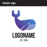 Sign of the whale tail in the form of a key Stock Images