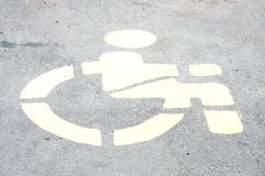 Sign of wheelchair Royalty Free Stock Image