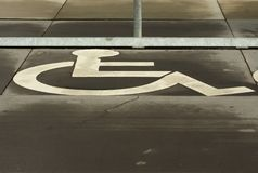 sign wheelchair στοκ εικόνα με δικαίωμα ελεύθερης χρήσης