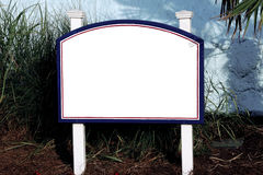 Sign white blue red  total white Stock Photos