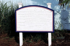Sign white blue red  total white Royalty Free Stock Photo