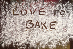 Love to bake cakes. Abstract photo shows chefs love to his job. Cooking and baking is mission of all life Stock Images