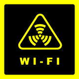 Sign of wi-fi coverage. Royalty Free Stock Image