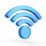 Sign wi-fi on white background Royalty Free Stock Photography