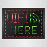 Sign of wifi in a retro style with light bulbs Stock Images