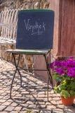 Sign wine bar Stock Photography