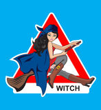 Sign On A Witch Stock Photo