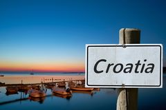 Sign With The Inscription Croatia Royalty Free Stock Photography