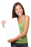 Sign woman happy Stock Images
