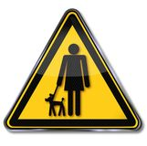 Sign woman with puppy Royalty Free Stock Image