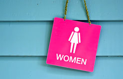 Sign woman toilet Stock Image