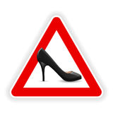 Sign of womens shoes Stock Photography