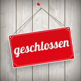 Sign Wooden Background geschlossen Stock Photos