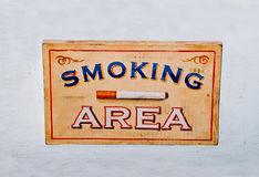 The Sign wooden box of smoking area Royalty Free Stock Image