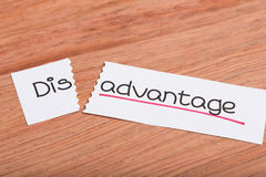 Sign with word disadvantage turned into advantage Royalty Free Stock Images
