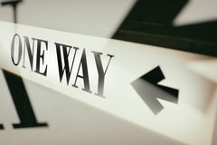 Sign of word one way Royalty Free Stock Images
