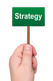 Sign with word strategy. Royalty Free Stock Photos