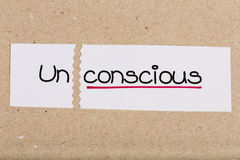 Sign with word unconscious turned into conscious Royalty Free Stock Images