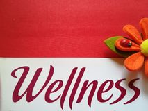 Sign with written. Sign with the word wellness Royalty Free Stock Images