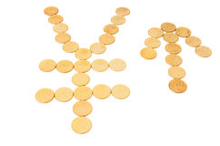 Sign of yen & arrow. Stock Image