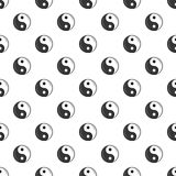 Sign yin yang pattern, cartoon style. Sign yin yang pattern. Cartoon illustration of sign yin yang vector pattern for web Royalty Free Stock Image