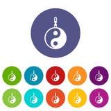 Sign yin yang set icons Royalty Free Stock Photos