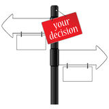 Sign and your decision which way illustration Stock Photography