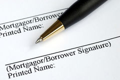 Sign your name here Royalty Free Stock Image