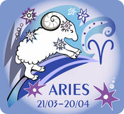 Sign of the zodiac - Aries. Vector Illustration Royalty Free Stock Photo