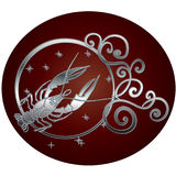 Sign of the zodiac Cancer is the starry sky vector illustration
