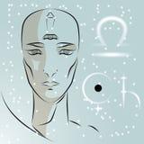 Sign of the zodiac Libra. vector illustration