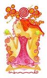 Sign of the Zodiac Libra royalty free illustration