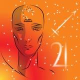 Sign of the zodiac Sagittarius. royalty free illustration