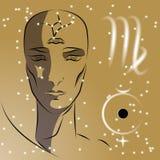 Sign of the zodiac Virgo. stock illustration