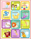 Sign zodiacs. Illustration of isolated set of sign zodiacs Stock Photos