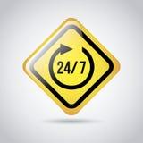 24-7 signaal stock illustratie