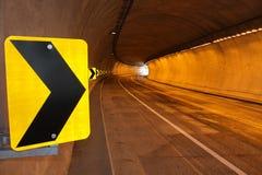 Signaal binnen de tunnel Royalty-vrije Stock Afbeelding