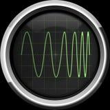 Signaal met frequentiemodulatie (FM) royalty-vrije illustratie
