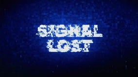 Signaal Verloren de Krampglitch van het Tekst Digitale Lawaai Vervormingseffect Foutenanimatie royalty-vrije illustratie