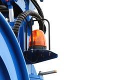 Signaallamp voor waarschuwings opvlammend licht op voertuig Stock Foto