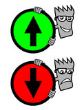 Signaalpijl Royalty-vrije Stock Afbeelding