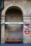 signaalstraat in het oude pictogram van Londen Engeland Europa Royalty-vrije Stock Foto's