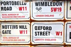 signaalstraat in Londen   vervoerpictogram Stock Foto's