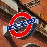 signaalstraat in oud het vervoerpictogram van Londen Engeland Europa Stock Foto's