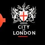 signaalstraat in oud het vervoerpictogram van Londen Engeland Europa Stock Afbeeldingen