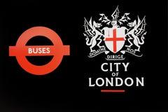 signaalstraat in oud het vervoerpictogram van Londen Engeland Europa Stock Afbeelding