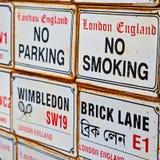 signaalstraat in oude het vervoerico van Londen Engeland Europa Stock Foto